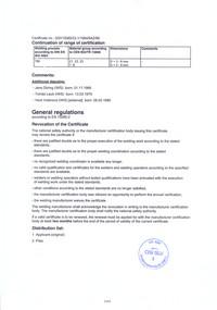 Welding Certificate DIN EN 15085-2 FTL