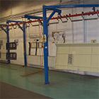 Lackierwerkstatt, Zinkphosphat. <br> Abmessungen: 1,5 x 0,9 x 3,3 Meter